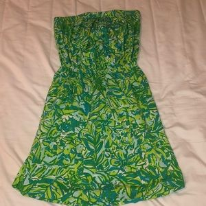 Lilly Pulitzer Windsor Dress in Green Parrot